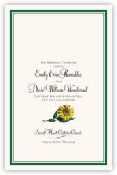Sunflower  Wedding Programs