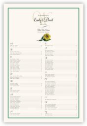 Sunflower  Seating Charts