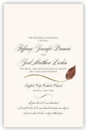 Ironwood Wispy Leaf  Wedding Programs