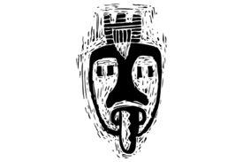 Cultural Illustrations African Mask 05 Artwork
