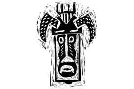 Cultural Illustrations African Mask 11 Artwork