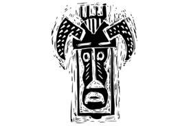 Cultural Illustrations African Mask 11 Artwork