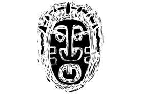 Cultural Illustrations African Mask 15 Artwork