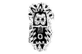 Cultural Illustrations African Mask 17 Artwork
