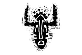 Cultural Illustrations African Mask 22 Artwork