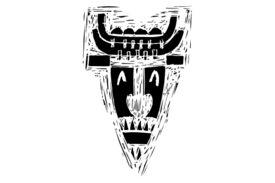 Cultural Illustrations African Mask 24 Artwork
