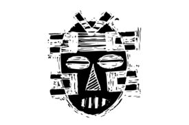 Cultural Illustrations African Mask 25 Artwork