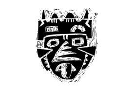 Cultural Illustrations African Mask 26 Artwork
