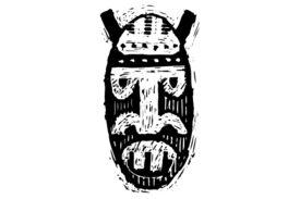 Cultural Illustrations African Mask 27 Artwork