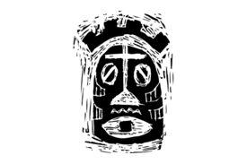 Cultural Illustrations African Mask 30 Artwork