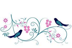 Birds and Butterflies Leah and Luna Artwork