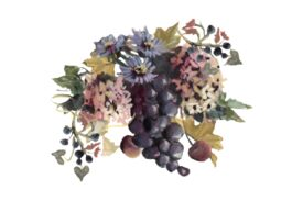 Spring Flowers, Autumn Leaves, Grapes Blue Grapes and Chicory 01 Artwork