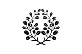 Cultural Illustrations Japanese Family Crest - Bush Clover Artwork