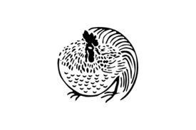 Cultural Illustrations Japanese Family Crest - Chicken Artwork