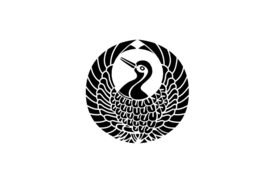 Cultural Illustrations Japanese Family Crest - Crane 01 Artwork