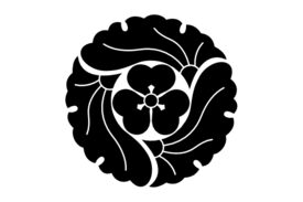 Cultural Illustrations Japanese Family Crest - Ginkgo 06 Artwork