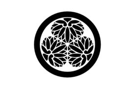Cultural Illustrations Japanese Family Crest - Hollyhock 01 Artwork