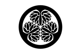 Cultural Illustrations Japanese Family Crest - Hollyhock of Tokugawa Artwork