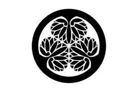 Cultural Illustrations Japanese Family Crest - Hollyhock of Tokugawa Artwork