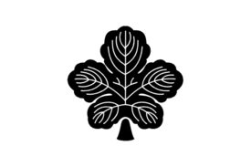 Cultural Illustrations Japanese Family Crest - Leaf of Kaji Artwork