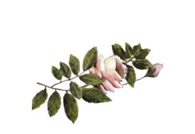Spring Flowers, Autumn Leaves, Grapes Light Pink Rose Artwork
