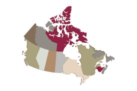 Cultural Illustrations Map of Canada Artwork