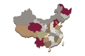 Cultural Illustrations Map of China Artwork