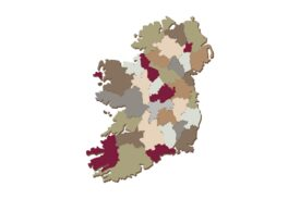 Cultural Illustrations Map of Ireland Artwork