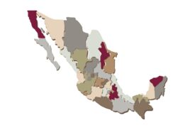 Cultural Illustrations Map of Mexico Artwork
