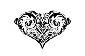 Cultural Illustrations Paisley Heart Artwork