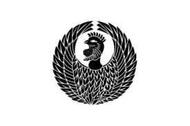 Cultural Illustrations Japanese Family Crest - Phoenix 02 Artwork
