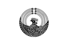 Cultural Illustrations Japanese Family Crest - Phoenix 04 Artwork