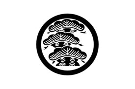 Cultural Illustrations Japanese Family Crest - Pine Artwork