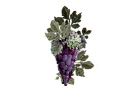Spring Flowers, Autumn Leaves, Grapes Purple Grapes Artwork