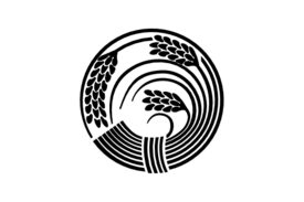 Cultural Illustrations Japanese Family Crest - Rice Plant 02 Artwork