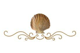 Seashells, Fish, and Beach Seashell Flourish 14 Artwork