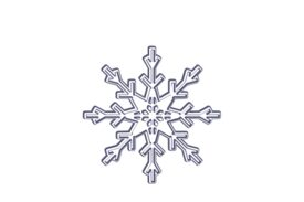 Winter and Holiday Snowflake Drawing 09 Artwork