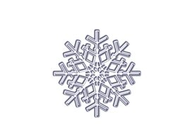 Winter and Holiday Snowflake Drawing 11 Artwork