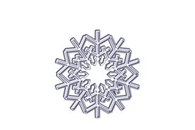 Winter and Holiday Snowflake Drawing 14 Artwork