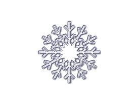 Winter and Holiday Snowflake Drawing 19 Artwork