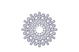 Winter and Holiday Snowflake Drawing 20 Artwork