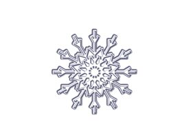 Winter and Holiday Snowflake Drawing 21 Artwork