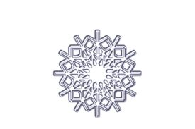 Winter and Holiday Snowflake Drawing 23 Artwork