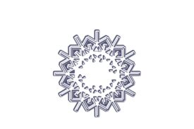 Winter and Holiday Snowflake Drawing 24 Artwork