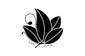 Cultural Illustrations Japanese Family Crest - Swallowtail 04 Artwork
