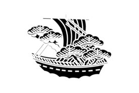 Cultural Illustrations Japanese Family Crest - Treasure Ship Artwork