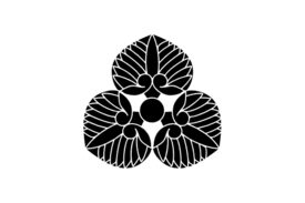 Cultural Illustrations Japanese Family Crest - Water Lily Artwork