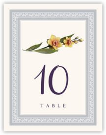 Traditional Flowers Anniversary Table Numbers