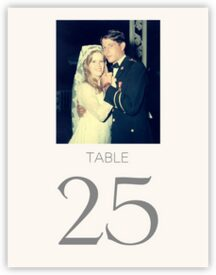 Memory Lane Anniversary Table Numbers