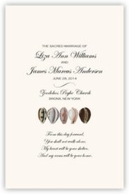 African Cowry Shell African Wedding Programs